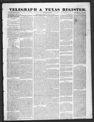 Primary view of object titled 'Telegraph & Texas Register (Houston, Tex.), Vol. 16, No. 20, Ed. 1 Friday, May 16, 1851'.