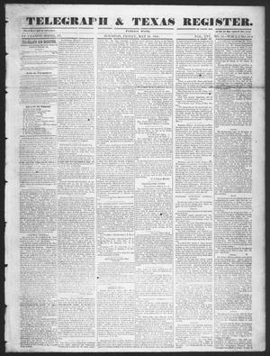 Telegraph & Texas Register (Houston, Tex.), Vol. 16, No. 22, Ed. 1 Friday, May 30, 1851