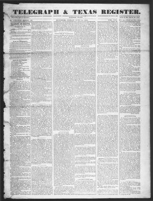 Telegraph & Texas Register (Houston, Tex.), Vol. 16, No. 24, Ed. 1 Friday, June 13, 1851