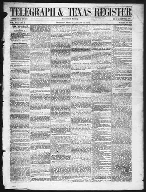 Primary view of object titled 'Telegraph & Texas Register (Houston, Tex.), Vol. 17, No. 3, Ed. 1 Friday, January 16, 1852'.
