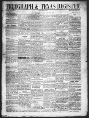 Primary view of object titled 'Telegraph & Texas Register (Houston, Tex.), Vol. 17, No. 32, Ed. 1 Friday, August 6, 1852'.