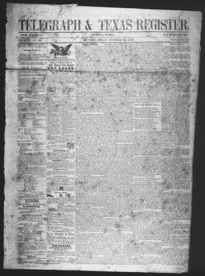 Primary view of Telegraph & Texas Register (Houston, Tex.), Vol. 17, No. 48, Ed. 1 Friday, November 26, 1852