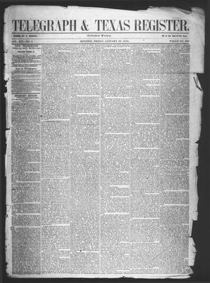 Primary view of object titled 'Telegraph & Texas Register (Houston, Tex.), Vol. 18, No. 4, Ed. 1 Friday, January 28, 1853'.