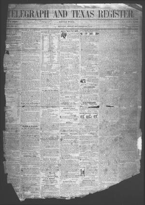 Telegraph And Texas Register (Houston, Tex.), Vol. 18, No. 37, Ed. 1 Friday, September 30, 1853