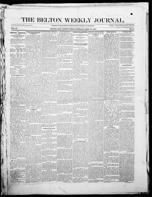 Primary view of object titled 'The Belton Weekly Journal (Belton, Tex.), Vol. 4, No. 17, Ed. 1 Saturday, April 16, 1870'.