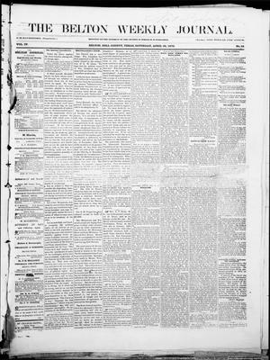 Primary view of object titled 'The Belton Weekly Journal (Belton, Tex.), Vol. 4, No. 19, Ed. 1 Saturday, April 30, 1870'.