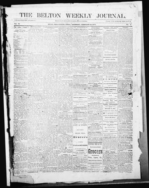 Primary view of object titled 'The Belton Weekly Journal (Belton, Tex.), Vol. 6, No. 8, Ed. 1 Saturday, February 24, 1872'.