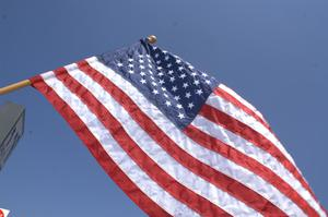 Primary view of object titled '[American flag]'.