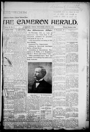 Primary view of object titled 'The Cameron Herald. (Cameron, Tex.), Vol. 25, No. 3, Ed. 1 Thursday, July 12, 1906'.