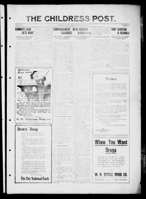 The Childress Post (Childress, Tex.), Vol. 12, No. 22, Ed. 1 Wednesday, May 28, 1913