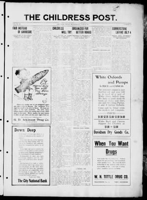 The Childress Post (Childress, Tex.), Vol. 12, No. 23, Ed. 1 Wednesday, June 4, 1913