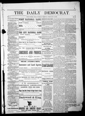 Primary view of object titled 'The Daily Democrat. (Fort Worth, Tex.), Vol. 1, No. 78, Ed. 1 Tuesday, February 13, 1883'.
