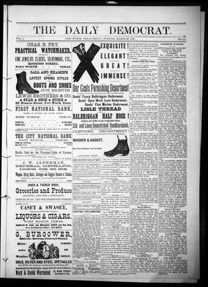 Primary view of object titled 'The Daily Democrat. (Fort Worth, Tex.), Vol. 1, No. 111, Ed. 1 Friday, March 23, 1883'.