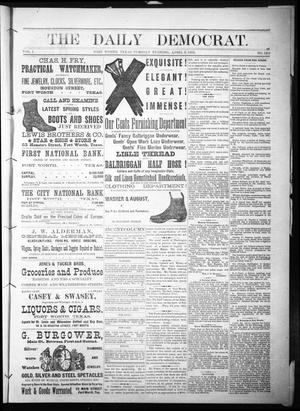 Primary view of object titled 'The Daily Democrat. (Fort Worth, Tex.), Vol. 1, No. 120, Ed. 1 Tuesday, April 3, 1883'.