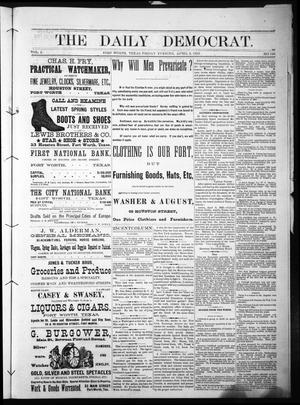 Primary view of object titled 'The Daily Democrat. (Fort Worth, Tex.), Vol. 1, No. 123, Ed. 1 Friday, April 6, 1883'.