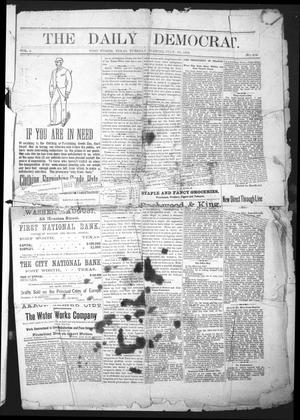 Primary view of object titled 'The Daily Democrat. (Fort Worth, Tex.), Vol. 1, No. 204, Ed. 1 Tuesday, July 10, 1883'.