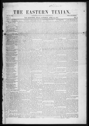 The Eastern Texian (San Augustine, Tex.), Vol. 1, No. 3, Ed. 1 Saturday, April 18, 1857