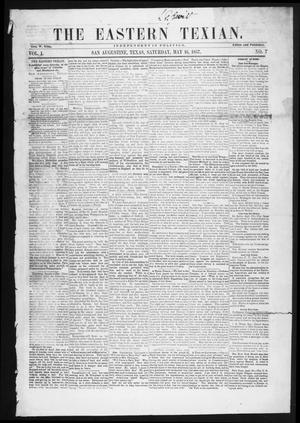 Primary view of object titled 'The Eastern Texian (San Augustine, Tex.), Vol. 1, No. 7, Ed. 1 Saturday, May 16, 1857'.