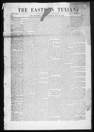 Primary view of object titled 'The Eastern Texian (San Augustine, Tex.), Vol. 1, No. 8, Ed. 1 Saturday, May 23, 1857'.