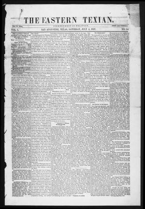 The Eastern Texian (San Augustine, Tex.), Vol. 1, No. 14, Ed. 1 Saturday, July 4, 1857