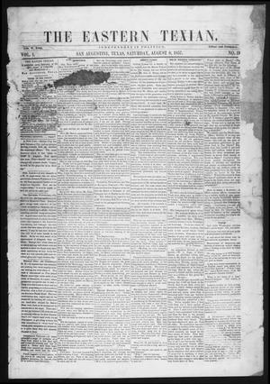 The Eastern Texian (San Augustine, Tex.), Vol. 1, No. 19, Ed. 1 Saturday, August 8, 1857