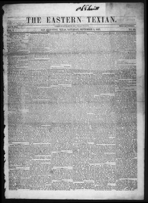 The Eastern Texian (San Augustine, Tex.), Vol. 1, No. 23, Ed. 1 Saturday, September 5, 1857