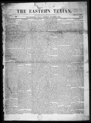 The Eastern Texian (San Augustine, Tex.), Vol. 1, No. 27, Ed. 1 Saturday, October 3, 1857