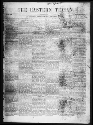 Primary view of object titled 'The Eastern Texian (San Augustine, Tex.), Vol. 1, No. 39, Ed. 1 Saturday, December 26, 1857'.