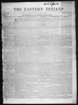 Primary view of object titled 'The Eastern Texian (San Augustine, Tex.), Vol. 1, No. 48, Ed. 1 Saturday, March 13, 1858'.