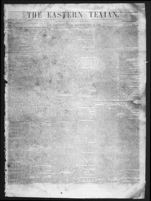 Primary view of object titled 'The Eastern Texian (San Augustine, Tex.), Vol. 2, No. 3, Ed. 1 Saturday, May 22, 1858'.
