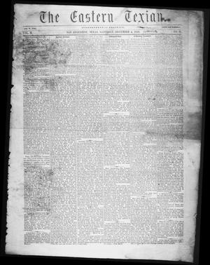 Primary view of The Eastern Texian (San Augustine, Tex.), Vol. 2, No. 31, Ed. 1 Saturday, December 4, 1858
