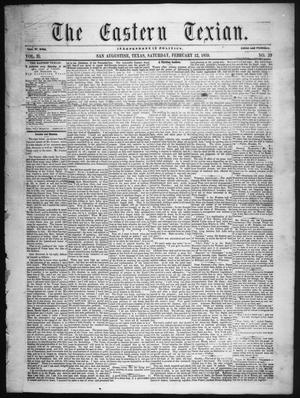 The Eastern Texian (San Augustine, Tex.), Vol. 2, No. 39, Ed. 1 Saturday, February 12, 1859
