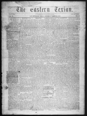Primary view of object titled 'The Eastern Texian (San Augustine, Tex.), Vol. 2, No. 43, Ed. 1 Saturday, March 12, 1859'.