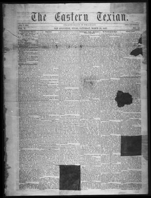 Primary view of object titled 'The Eastern Texian (San Augustine, Tex.), Vol. 2, No. 45, Ed. 1 Saturday, March 26, 1859'.