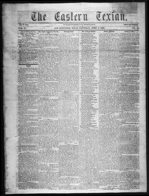 The Eastern Texian (San Augustine, Tex.), Vol. 2, No. 46, Ed. 1 Saturday, April 2, 1859