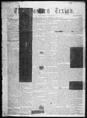 Primary view of object titled 'The Eastern Texian (San Augustine, Tex.), Vol. 3, No. 6, Ed. 1 Saturday, July 2, 1859'.