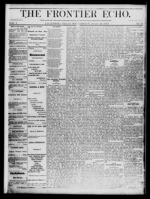 The Frontier Echo (Jacksboro, Tex.), Vol. 1, No. 5, Ed. 1 Wednesday, July 28, 1875