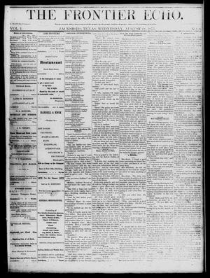 The Frontier Echo (Jacksboro, Tex.), Vol. 1, No. 8, Ed. 1 Wednesday, August 18, 1875