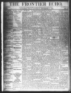 Primary view of object titled 'The Frontier Echo (Jacksboro, Tex.), Vol. 1, No. 11, Ed. 1 Saturday, September 11, 1875'.