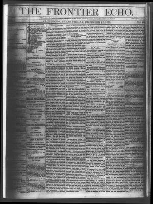 Primary view of object titled 'The Frontier Echo (Jacksboro, Tex.), Vol. 1, No. 24, Ed. 1 Friday, December 17, 1875'.