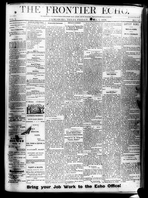 Primary view of object titled 'The Frontier Echo (Jacksboro, Tex.), Vol. 1, No. 40, Ed. 1 Friday, April 7, 1876'.