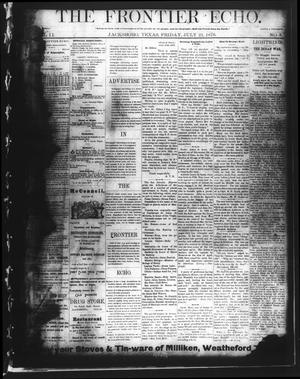 Primary view of object titled 'The Frontier Echo (Jacksboro, Tex.), Vol. 2, No. 3, Ed. 1 Friday, July 21, 1876'.