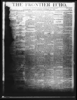 Primary view of object titled 'The Frontier Echo (Jacksboro, Tex.), Vol. 2, No. 9, Ed. 1 Friday, September 1, 1876'.