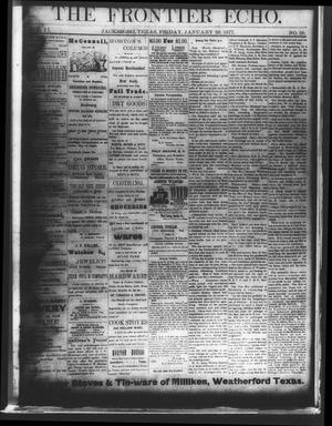 The Frontier Echo (Jacksboro, Tex.), Vol. 2, No. 29, Ed. 1 Friday, January 26, 1877