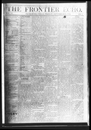 Primary view of object titled 'The Frontier Echo (Jacksboro, Tex.), Vol. 4, No. 8, Ed. 1 Friday, September 6, 1878'.