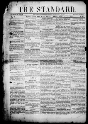 Primary view of object titled 'The Standard. (Clarksville, Tex.), Vol. 19, No. 42, Ed. 1 Thursday, January 22, 1863'.