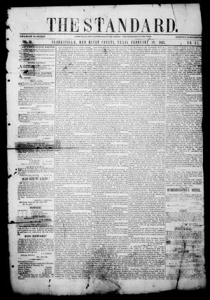 Primary view of object titled 'The Standard. (Clarksville, Tex.), Vol. 19, No. 47, Ed. 1 Saturday, February 28, 1863'.