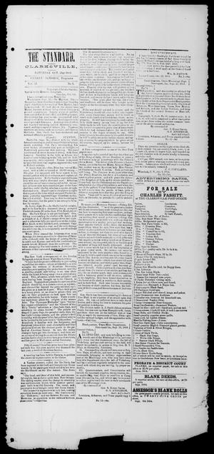 Primary view of object titled 'The Standard. (Clarksville, Tex.), Vol. 21, No. 1, Ed. 1 Saturday, October 22, 1864'.