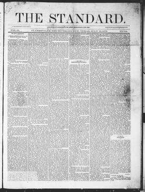 Primary view of object titled 'The Standard (Clarksville, Tex.), Vol. 31, No. 24, Ed. 1 Saturday, July 12, 1873'.