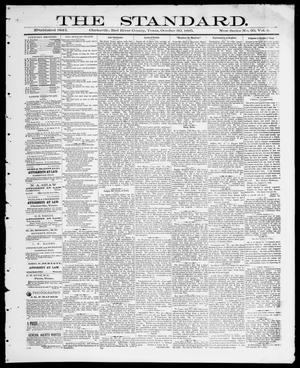 Primary view of object titled 'The Standard (Clarksville, Tex.), Vol. 6, No. 50, Ed. 1 Friday, October 30, 1885'.